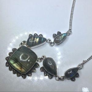 Jewelry - Stone of Transformation Labradorite iNecklace 925